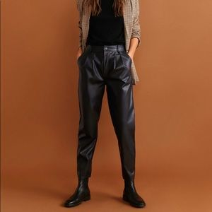 Mango vegan leather pants